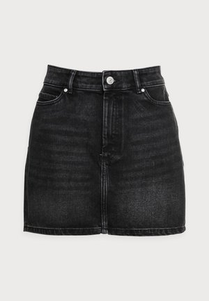 ONLROSE LIFE ASHAPE - Mini skirt - black denim