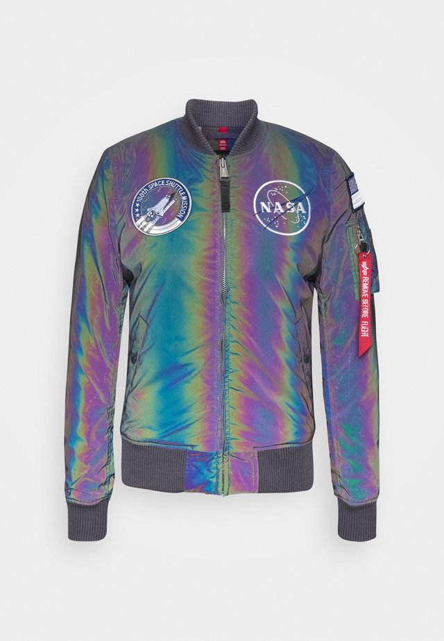 NASA RAINBOW - Kurtka Bomber - rainbow/reflective