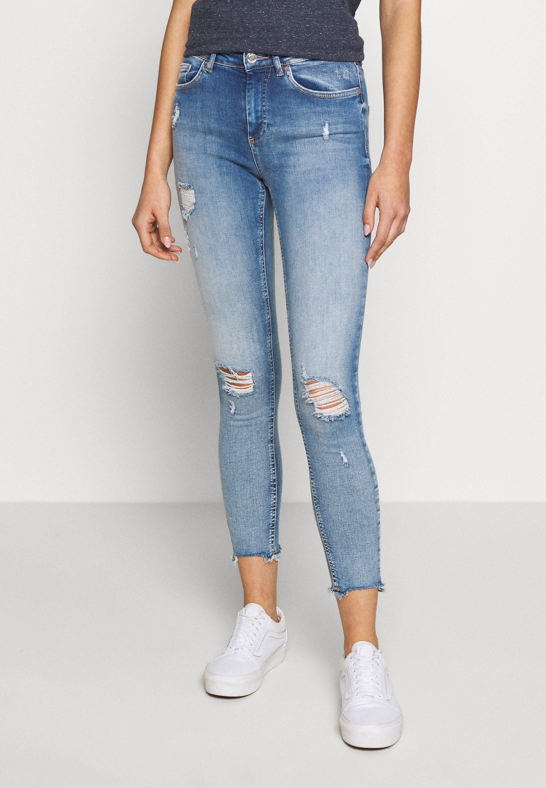 Damen ONLBLUSH MID DETROY - Jeans Skinny Fit