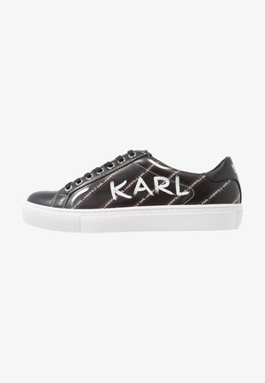 KUPSOLE BRUSHSTROKE LACE - Trainers - black/white