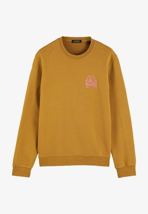 CREW NECK LOGO - Sweatshirt - tobacco