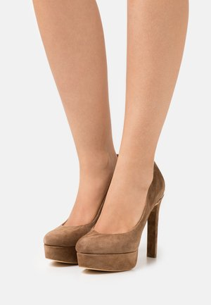 DEARLY - Platform heels - tan