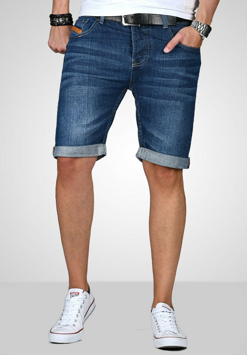 Maurelio Modriano - Denim shorts - dunkelblau