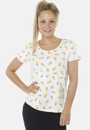 Print T-shirt - white lemon