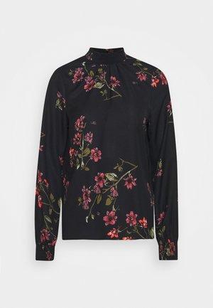 VMGALLIE HIGH NECK SMOCK - Bluzka z długim rękawem - black