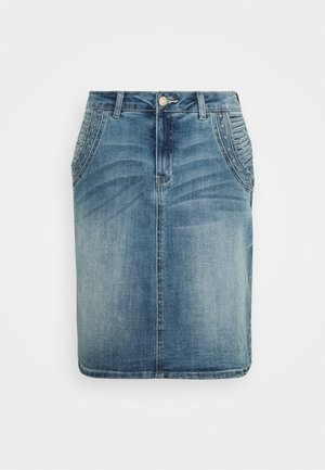 CRVELIA SKIRT - Pouzdrová sukně - blue denim