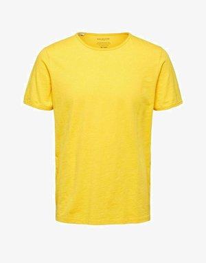 SLHMORGAN O-NECK TEE - Camiseta básica - solar power