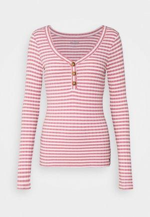 Top sdlouhým rukávem - pink stripe