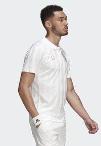 adidas Performance - Piké - white / scarlet - 3