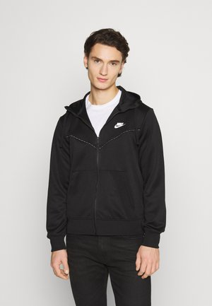 REPEAT HOODIE - veste en sweat zippée - black/reflective silver