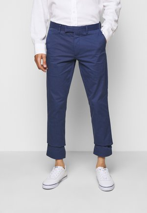 FLAT PANT - Trousers - light navy