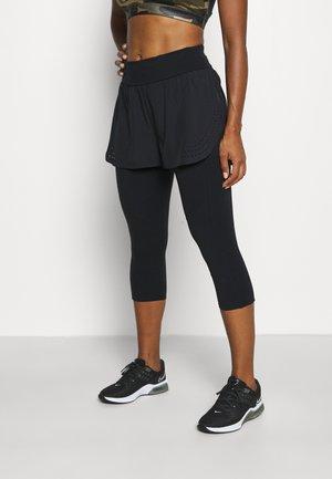 POWER DOUBLE UP WORK OUT LEGGINGS - Leggings - black