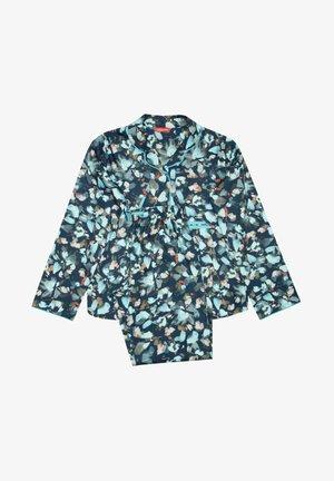 SET - Pyjama - blue leaf print
