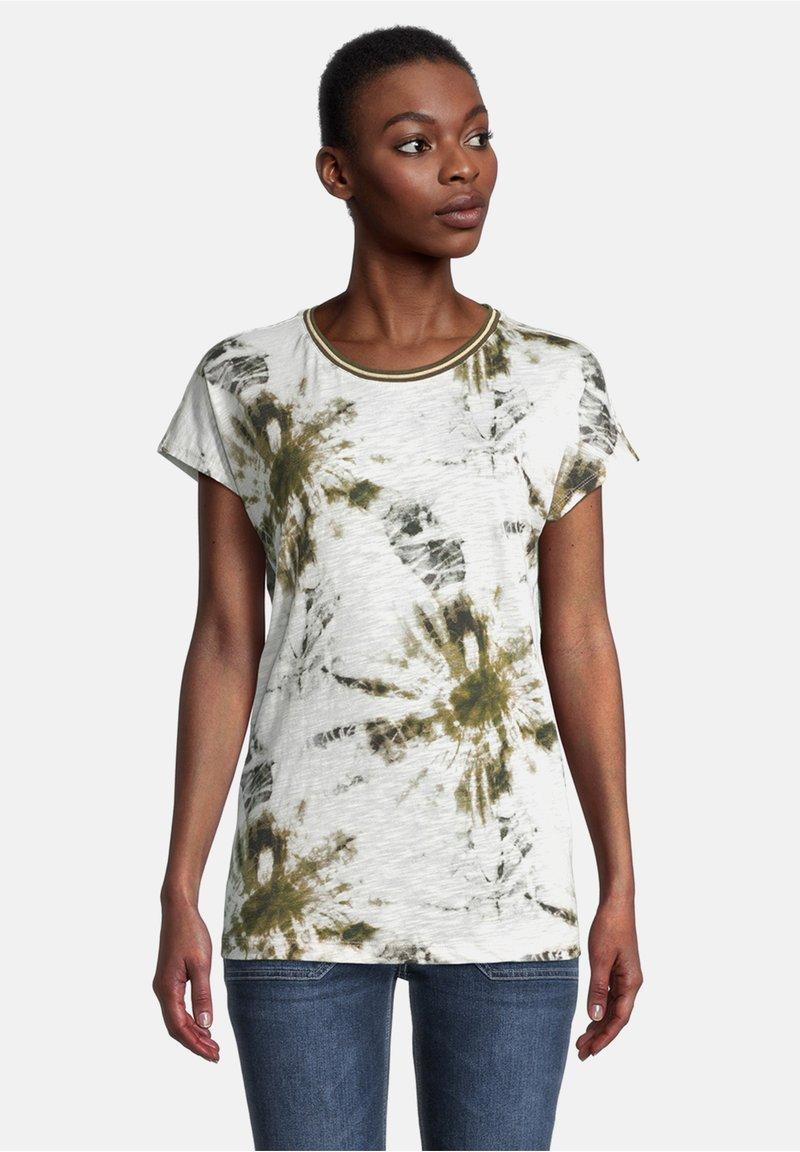 Cartoon - Print T-shirt - white/khaki