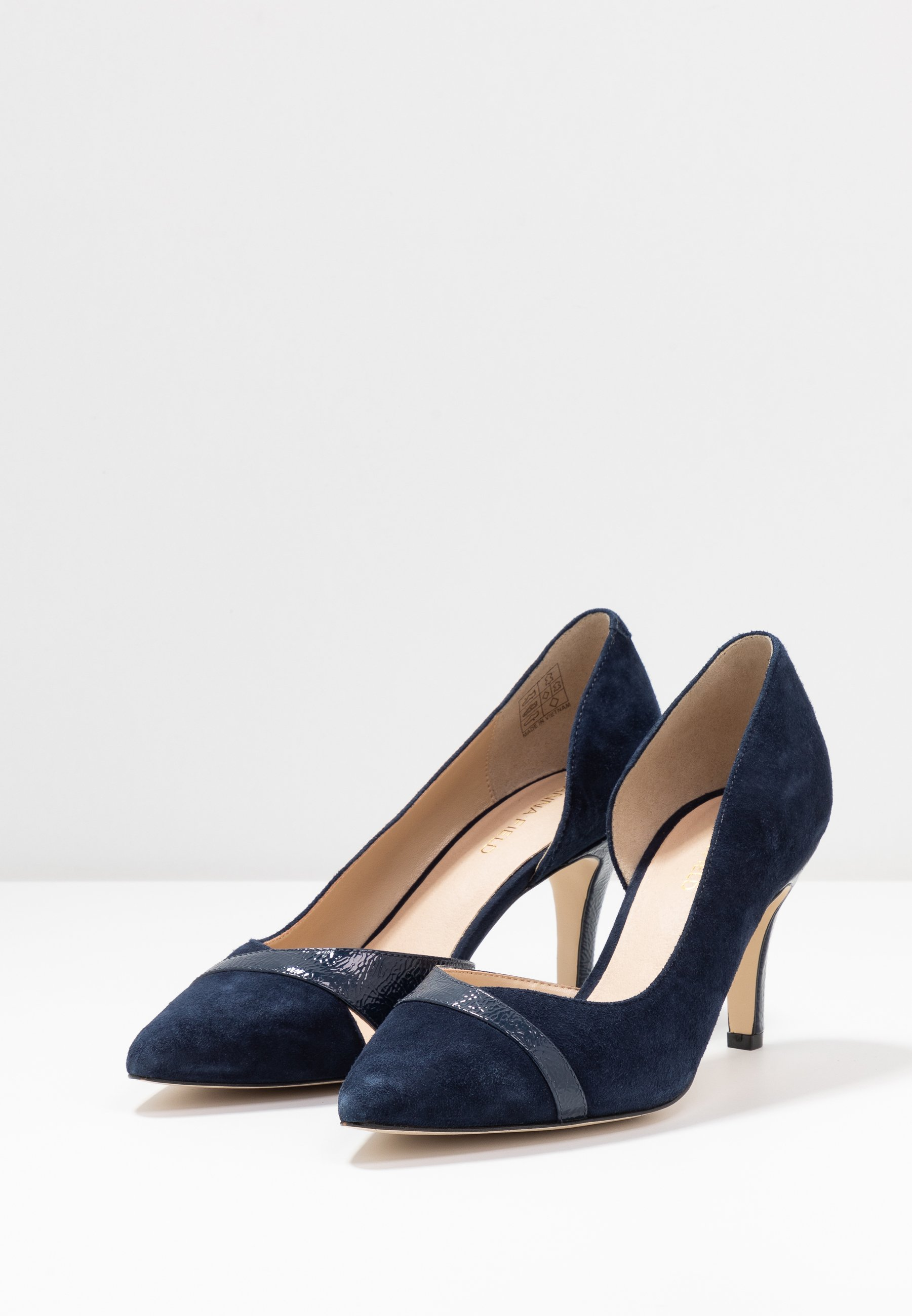 Anna Field Wide Fit LEATHER CLASSIC HEELS - Klassieke pumps - dark blue - Damesschoenen Heet