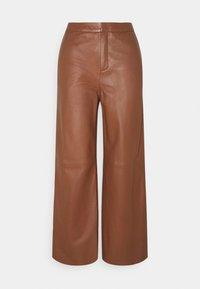ELAH - Leather trousers - chocolate glaze