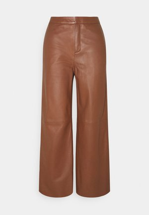 ELAH - Leather trousers - chocolate glaze
