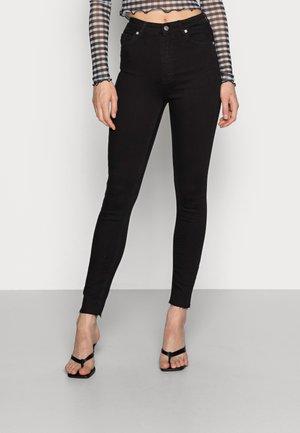 HIGH WAIST - Jeans Skinny - black
