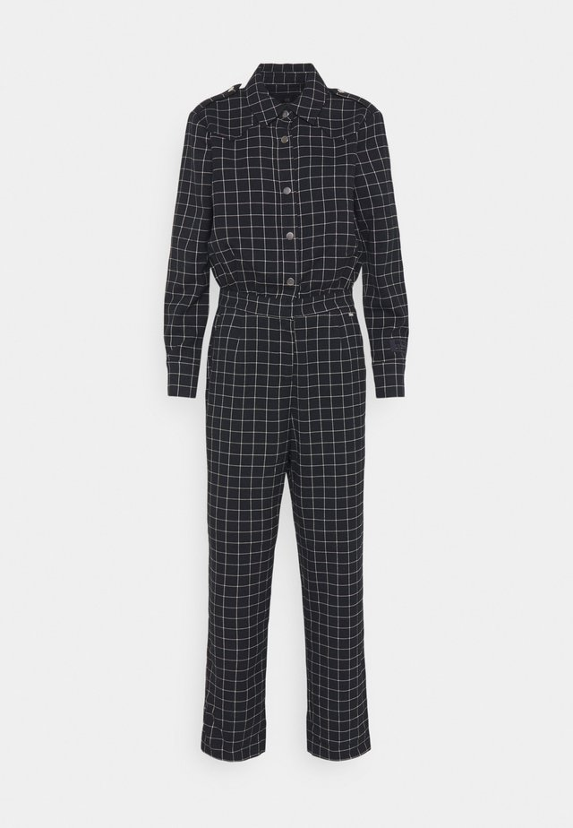 ALL IN ONE IN SPECIAL CHECK QUALITY - Jumpsuit - blue