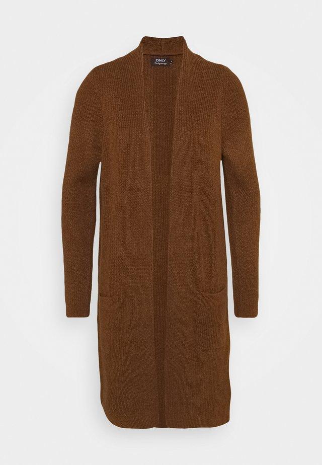 ONLJADE CARDIGAN  - Vest - ginger bread/black melange