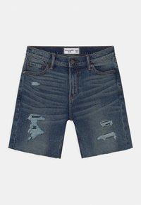 Abercrombie & Fitch - Jeans Short / cowboy shorts - dark blue - 0