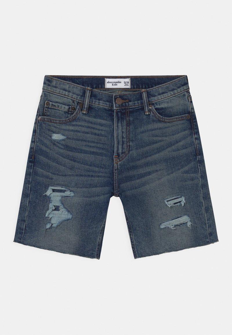 Abercrombie & Fitch - Jeans Short / cowboy shorts - dark blue