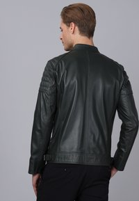 Basics and More - Leather jacket - green - 1
