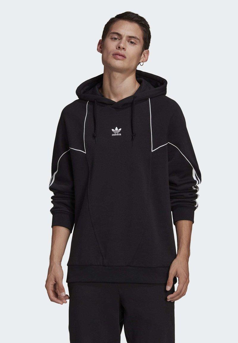 Dramaturgo Maravilloso creer  adidas Originals BIG TREFOIL ABSTRACT HOODIE - Hoodie - black - Zalando .co.uk