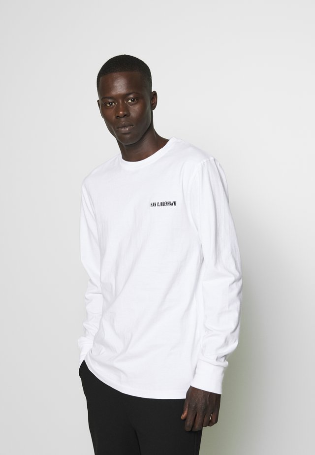 CASUAL LONG SLEEVE TEE - Langarmshirt - white logo