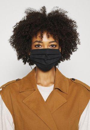 FACE MASK WITH STRAP UNISEX 2 PACK - Látková maska - black