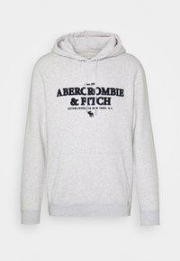Abercrombie & Fitch - LOGOCON APPLIQUE - Hoodie - grey heather - 3