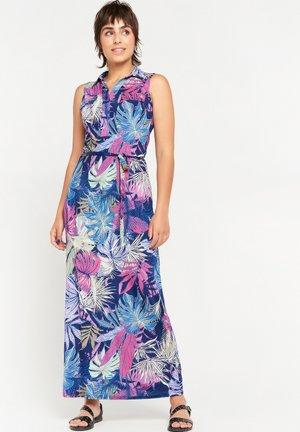 TROPICAL  - Maxi dress - navy blue