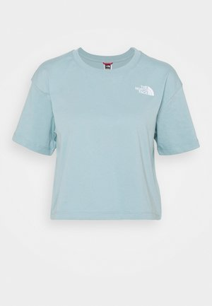 CROPPED SIMPLE DOME TEE - Basic T-shirt - tourmaline blue