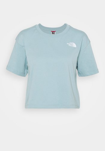 CROPPED SIMPLE DOME TEE  - T-shirt basic - tourmaline blue