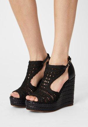 NEUVARI - Sandalen met plateauzool - noir