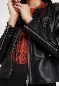 ONLY - ONLNEWMONA JACKET - Faux leather jacket - black - 5