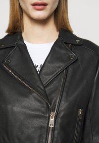 Pinko - SENSIBILE CHIODO - Leather jacket - black - 6