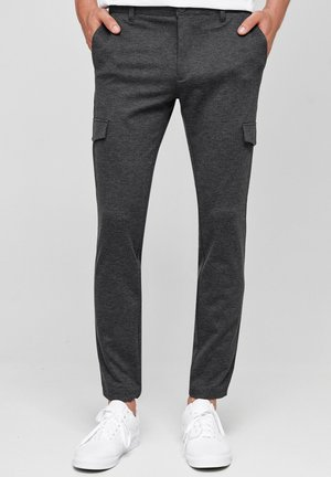SUPER STRETCH ECKHART - Cargo trousers - charcoal mix