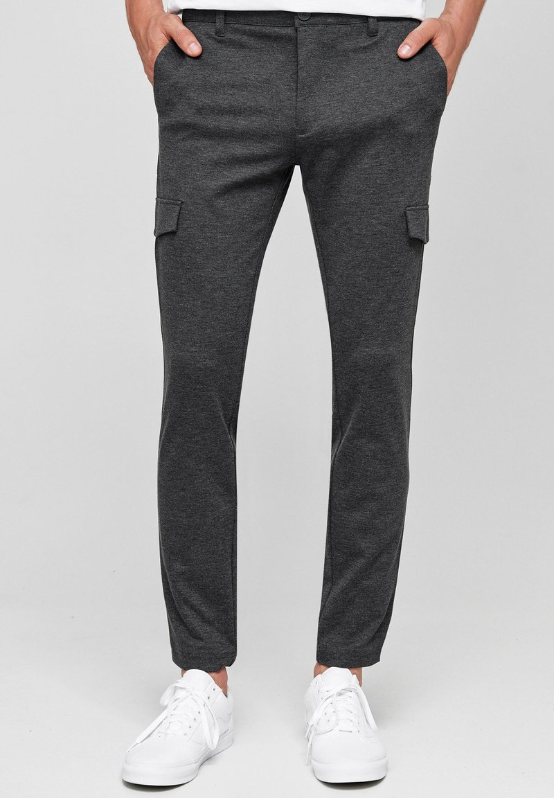 INDICODE JEANS - SUPER STRETCH ECKHART - Cargo trousers - charcoal mix