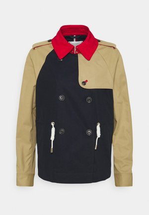 CROPPED TRENCH - Light jacket - desert sky/ primary red/camel