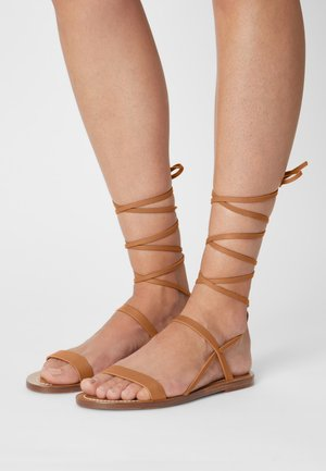 DESERT - Sandals - cognac