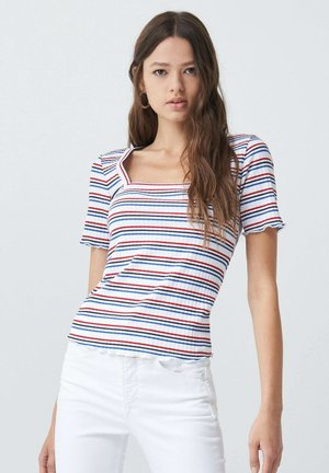 FRANCE BODYCON - Print T-shirt - blue / red / white