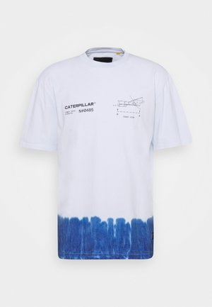 ENGINE TEE - T-shirt med print - white/blue