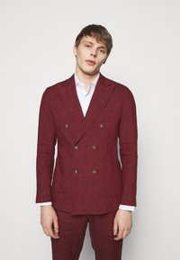 Frescobol Carioca - UNSTRUCTURED DOUBLE BREASTED - Suit jacket - dark red - 0