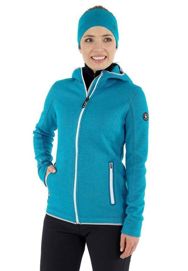 veste en sweat zippée - cyanblau