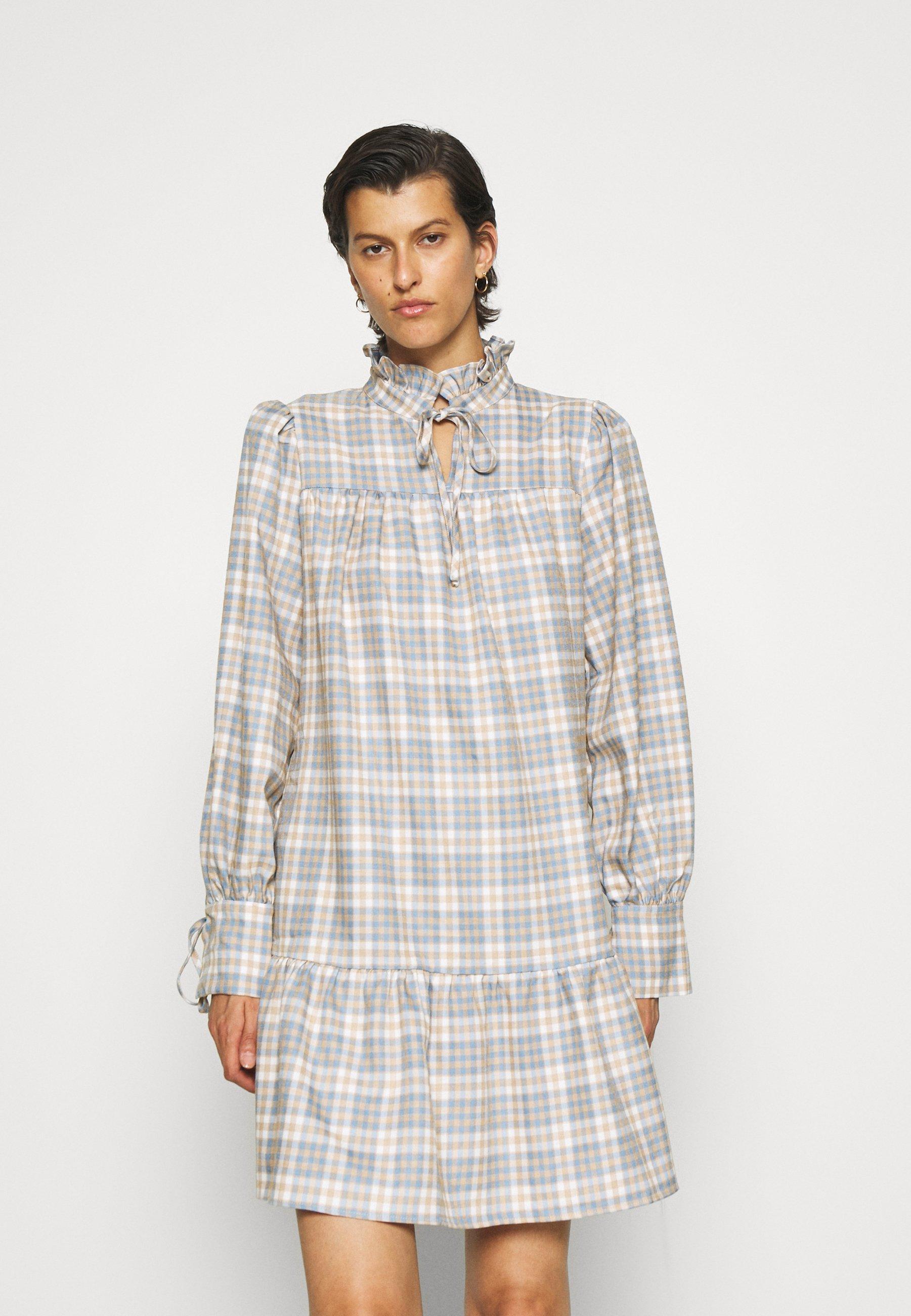 Women PUFF SLEEVE TIERED MINI DRESS - Day dress