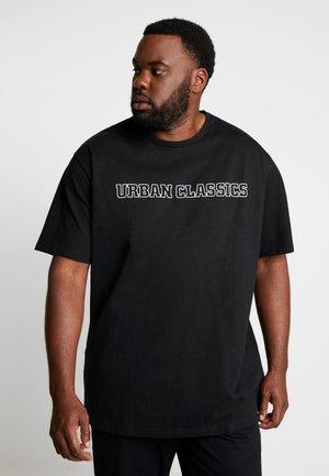 BIG LOGO OVERSIZED TEE - T-shirt print - black