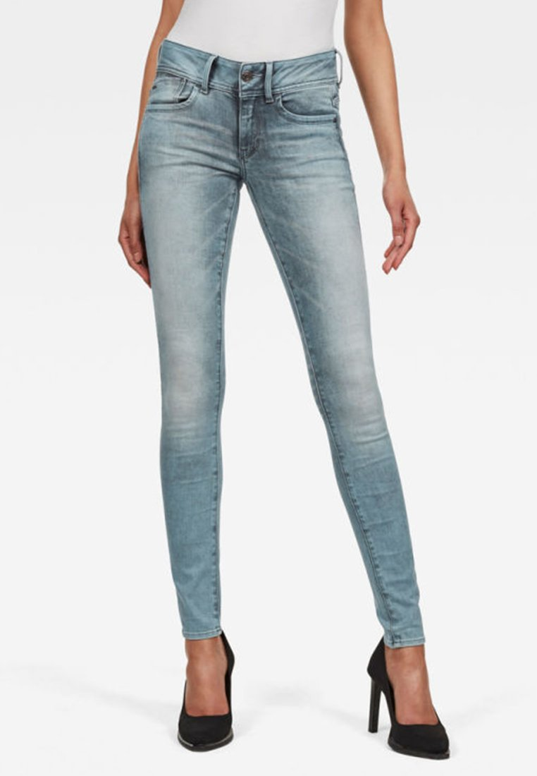 G-Star - LYNN MID SKINNY - Jeans Skinny - light blue