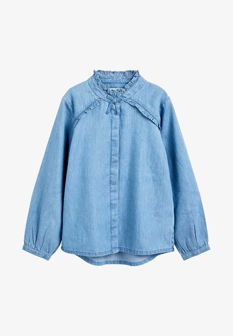 Next - Button-down blouse - blue