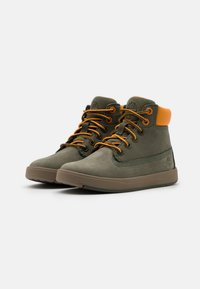 Timberland - DAVIS SQUARE UNISEX - High-top trainers - dark green - 1